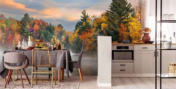 Papier peint paysage d'automne