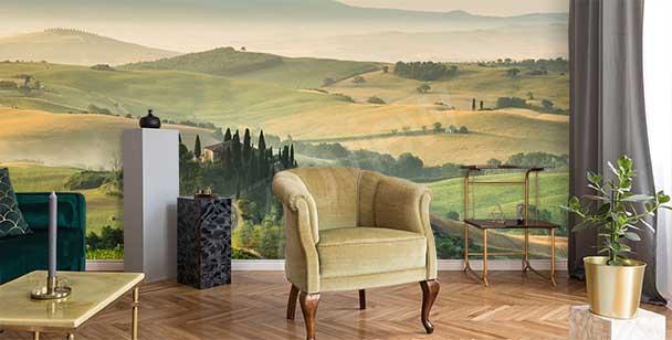 Papier peint paysage de Toscane