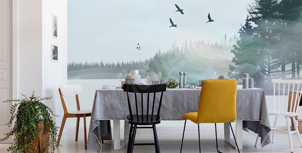 Papier peint paysage hivernal