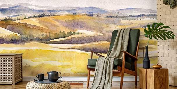 Papier peint paysage italien