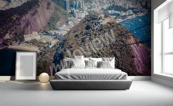 Papier peint paysage montagne 3D