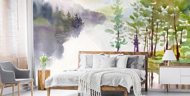 Papier peint peinture paysage