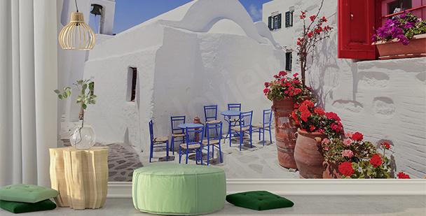 Papier peint petite ville grecque