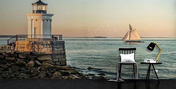Papier peint phare - bateau