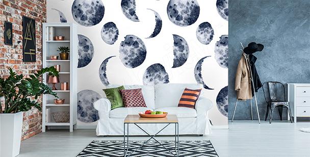 Papier peint phase lunaire