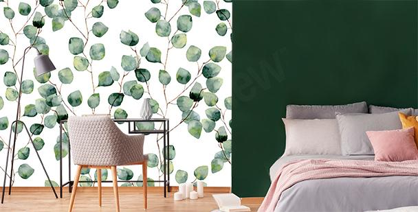 Papier peint photo feuilles d'eucalyptus