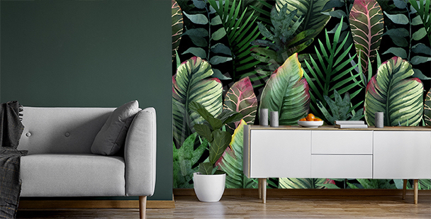 Papier peint photo végétation exotique
