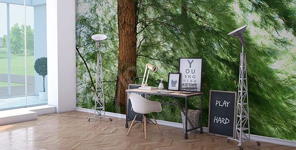 Papier peint pin vert
