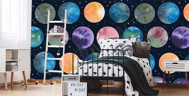 Papier peint planètes dans le cosmos