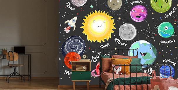 Papier peint vue de la Lune