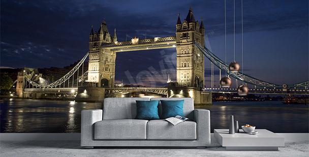 Papier peint pont à Londres