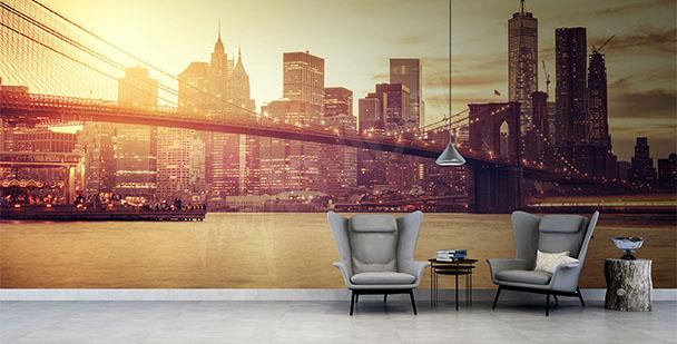 Papier peint pont à New York