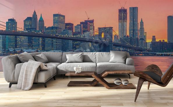 Papier peint pont Manhattan