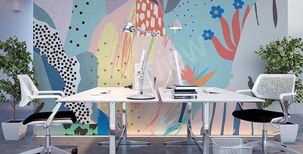 Papier peint pour bureau abstrait