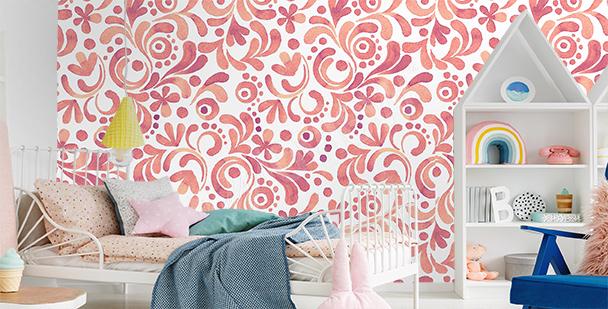 Papier peint ornements en spirales