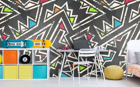 Papier peint pour chambre garçon - abstraction