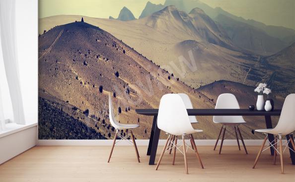 papier peint pour la cuisine montagnes