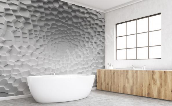 papier peint pour la salle de bain 3d