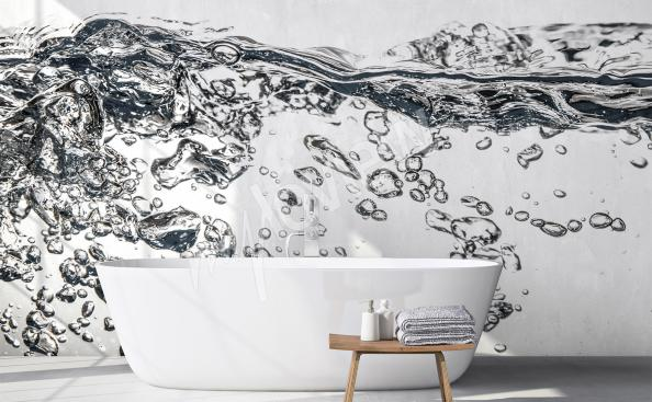 papier peint pour la salle de bain eau