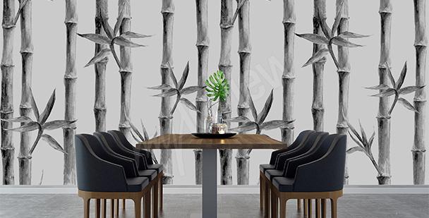 Papier peint pour salle à manger bambou