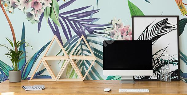 Papier peint bureau abstrait