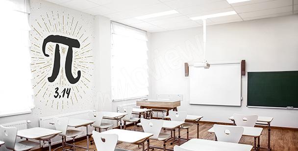 Papier peint école économique