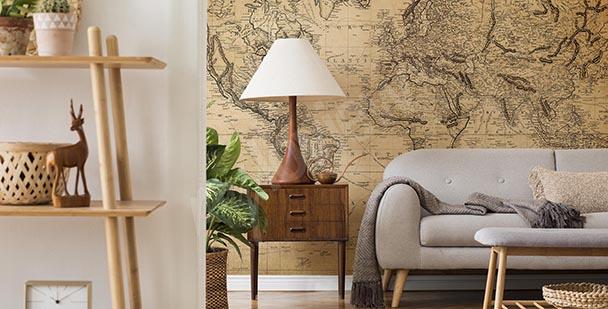 Papier peint carte: les pays monde