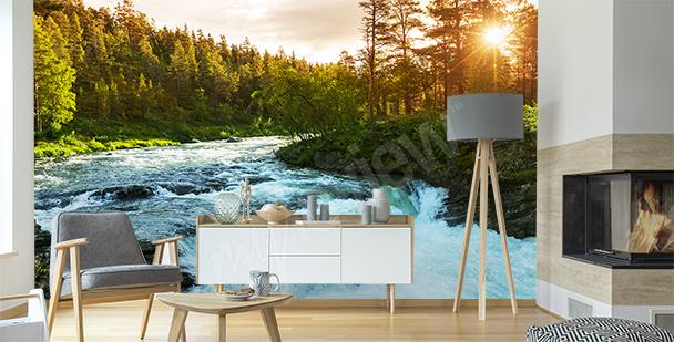 Papier peint rivière Norvège
