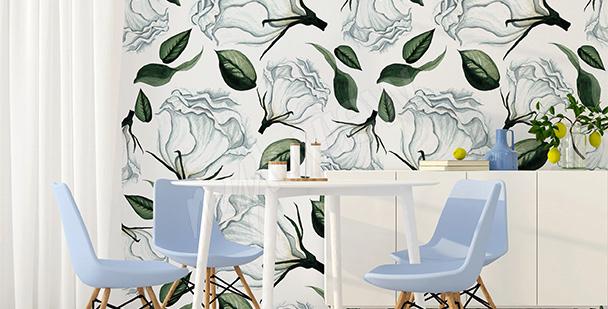 papiers peints roses mur aux dimensions. Black Bedroom Furniture Sets. Home Design Ideas