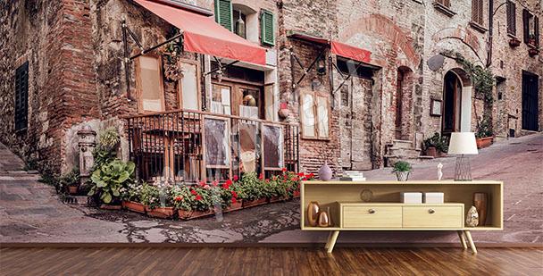 Papier peint ruelle de Toscane