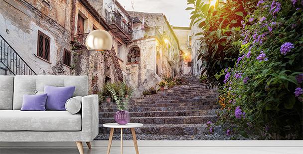 Papier peint ruelle ville italienne