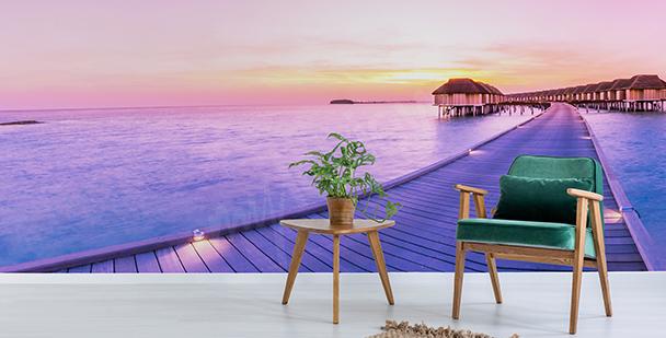 Papier peint soir aux Maldives
