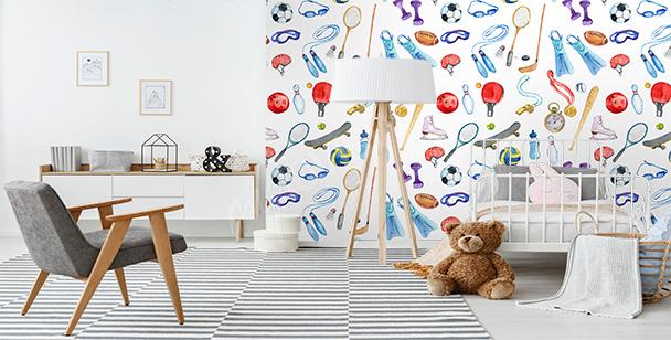 Papier peint sport pour enfant