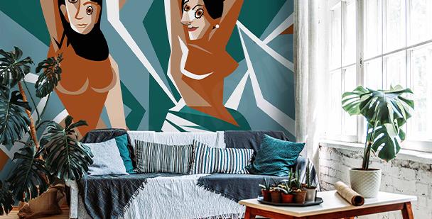 Papier peint style cubiste
