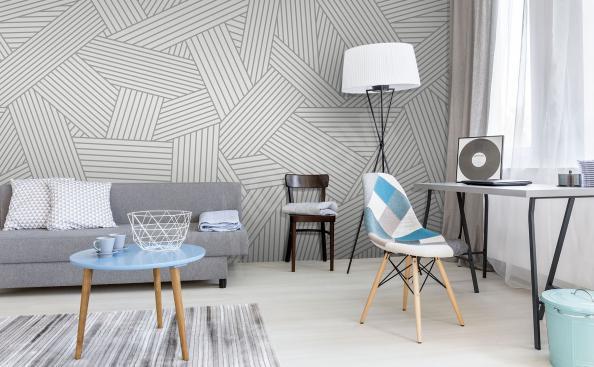 Papier peint style scandinave gris