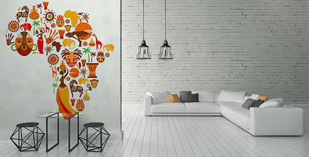 Papier peint symboles de l'Afrique