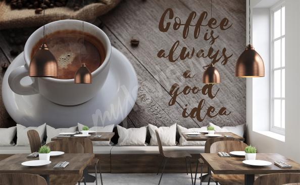Papier peint tasse de café