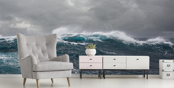 Papier peint mer haute vague
