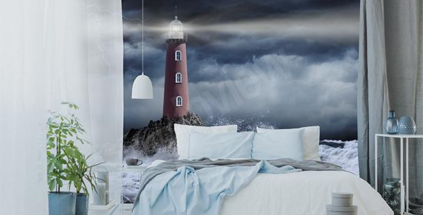 Papier peint phare blanc