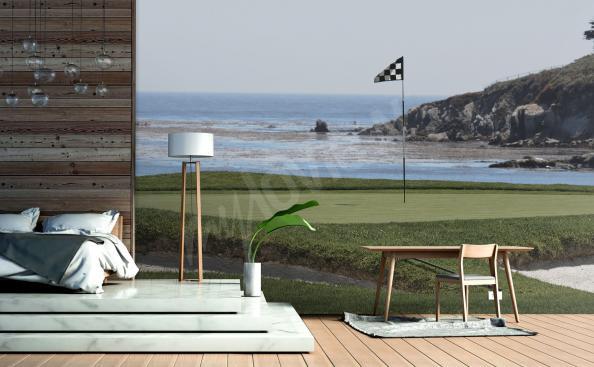 Papier peint terrain de golf 3d