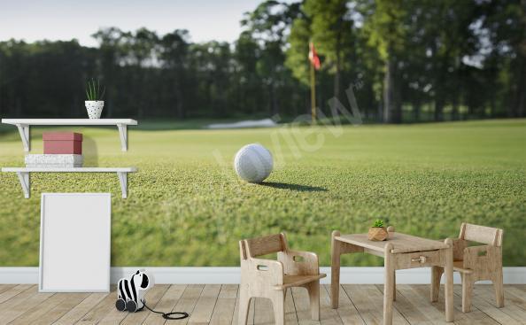 papier peint terrain de golf vert