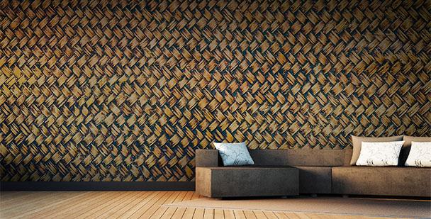 Papier peint texture de bambou