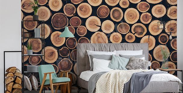 Papier peint troncs d'arbres