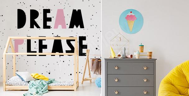 Papier peint typographique pour enfants
