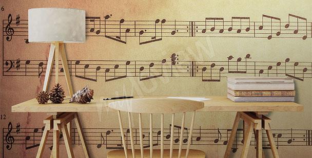 Papier peint une école de musique