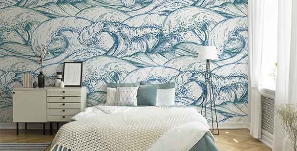 Papier peint vagues de la mer