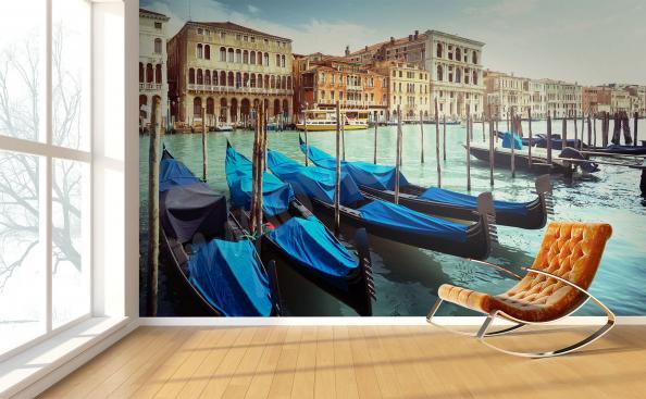 Papier peint Venise gondole