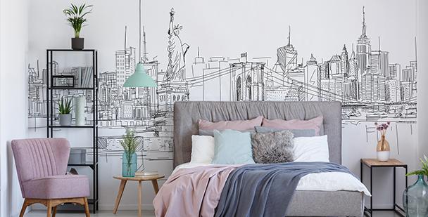 Papier peint ville minimaliste