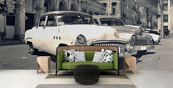 Papier peint voitures la Havane