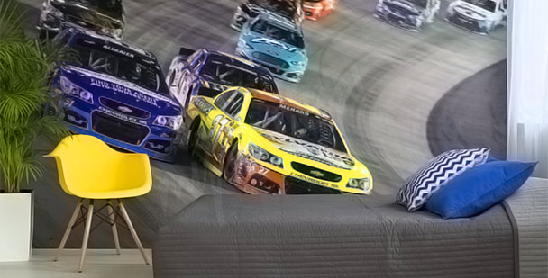 Papier peint voitures NASCAR